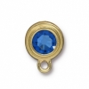 Earring Post Gold Sapphire SS34 Sw F/b